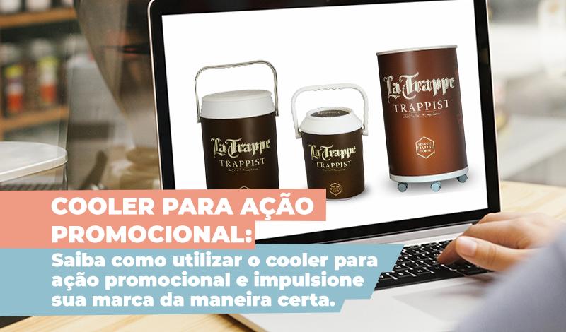 Cooler para ação promocional